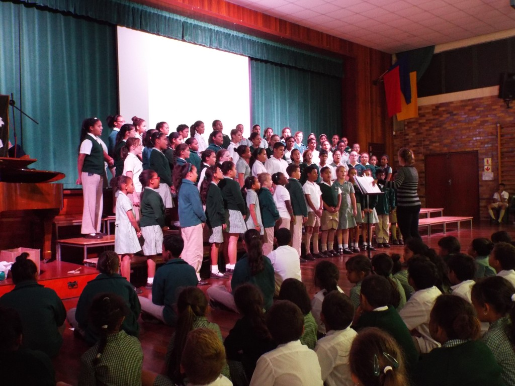 Choir sang in Assembly (1)