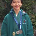 Daniyal Matthews won medals for track cycling