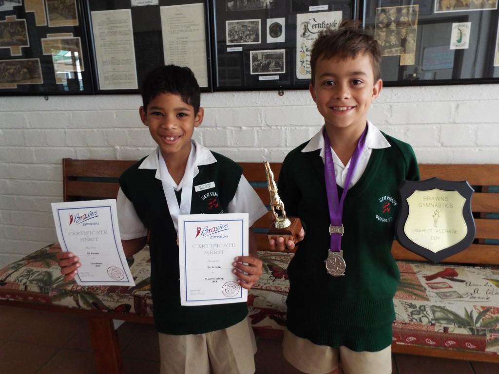 Eli Fortune & Samuel Flint Gymnastics awards