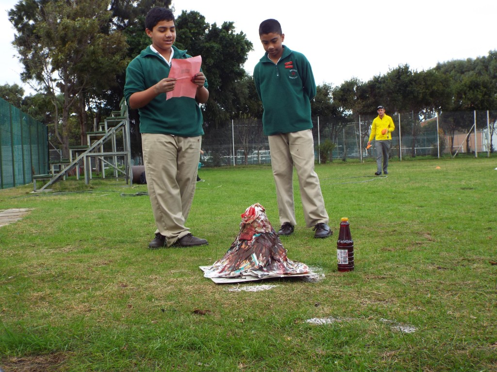 Grade 7H experimented with volcanoes (10)