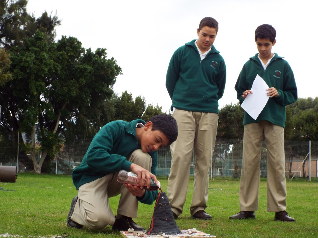 Grade 7H experimented with volcanoes (7)