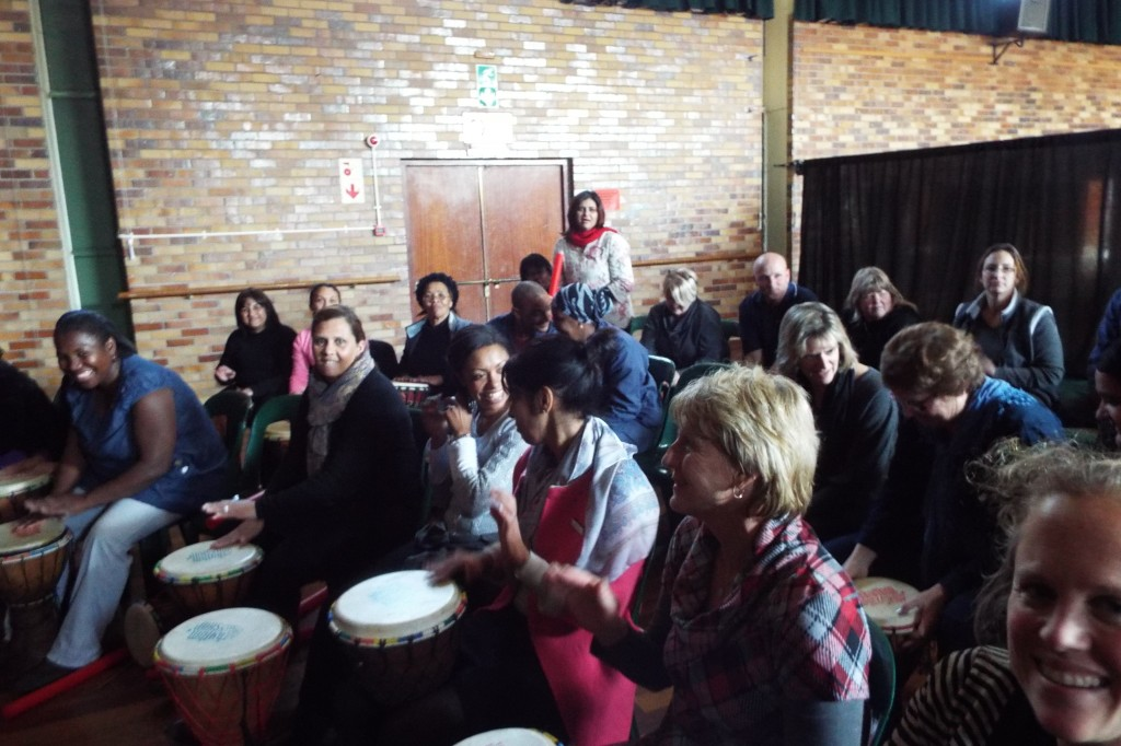 Staff enjoyed a Drumming Session (9)