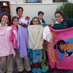 Towels and blankets collected for Mdzananda Clinic